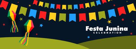 festa junina celebration night banner