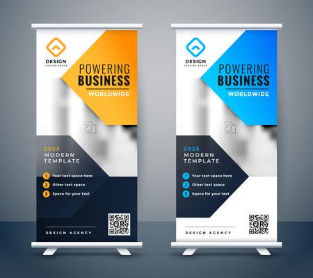 stylish company business roll up banner design Foto de archivo - 123118750