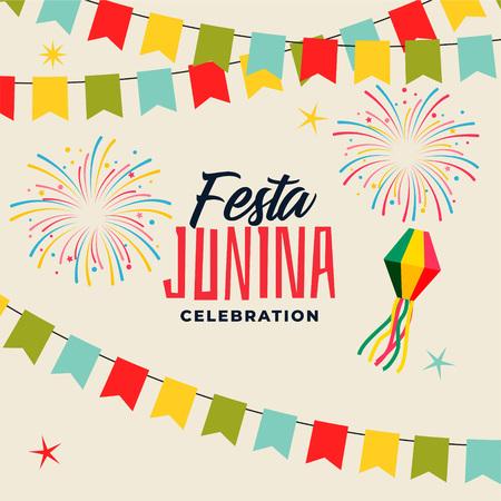 celebration background for festa junina festival Vektorové ilustrace