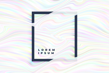 holographic stripes gradient wavy background Illustration