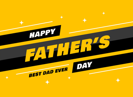 modern fathers day greeting card design