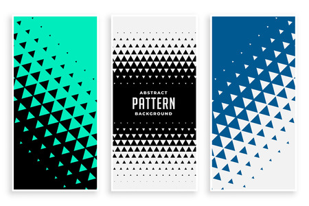 abstract triangle pattern banners set Illustration