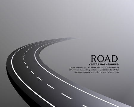 curved perspective road pathway background Ilustrace
