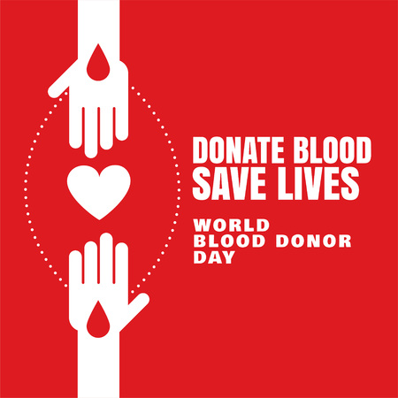 donate blood save lives concept background Vectores