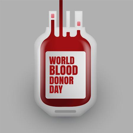 Blutspendeflasche zum Weltblutspendetag