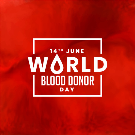 red world blood donor day background design
