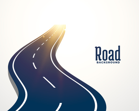 winding road curve path background Illustration