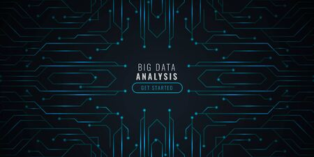 data analysis technology backgorund with circut diagram