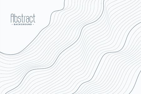 abstract contour lines on white background