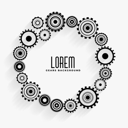gears frame background with text space