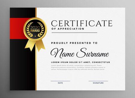 certificat de réussite avec conception de badge