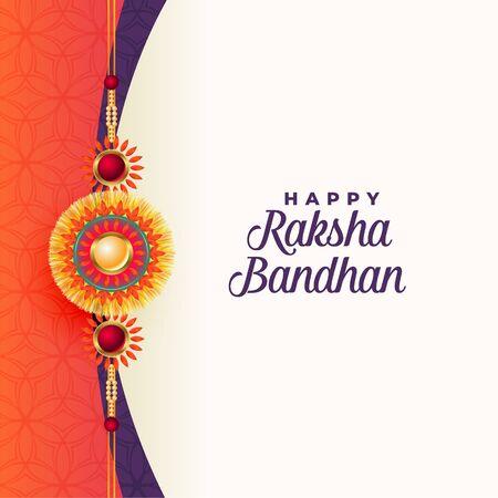 happy raksha bandhan traditional greeting card design