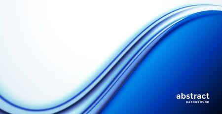 elegante fondo de presentación de onda de negocios azul