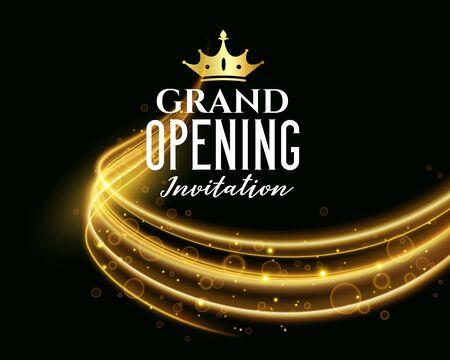 premium grand opening dark invitation banner Ilustración de vector