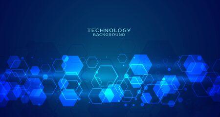 modern hexagonal technology blue background Stock fotó - 126845093