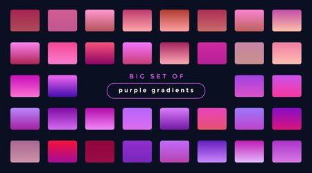 vibrant set of purple and pink gradients