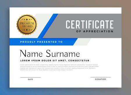 professional multipurpose business certificate design