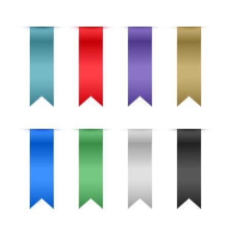 set of ribbons design elements