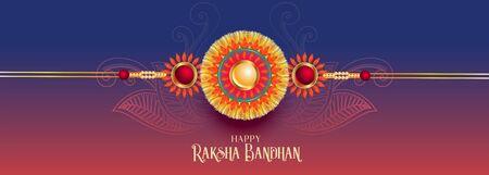 indian raksha bandhan festival banner