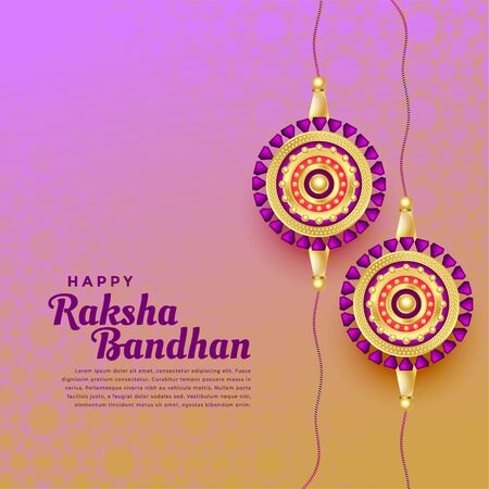 happy raksha bandhan festival background Illustration