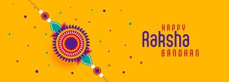 happy raksha bandhan festival banner Illustration