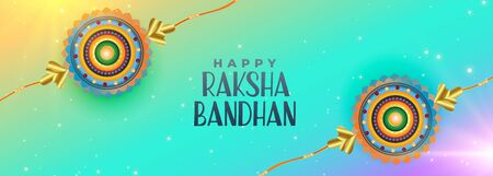 happy raksha bandhan celebration banner design Illustration
