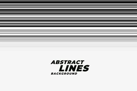abstract speed motion lines in black and white backgorund Stock Illustratie