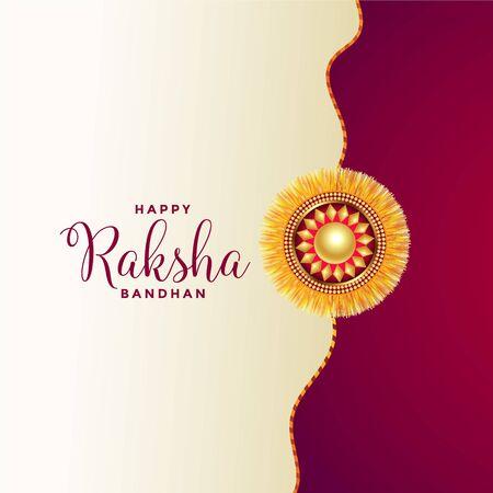 happy raksha bandhan greeting design