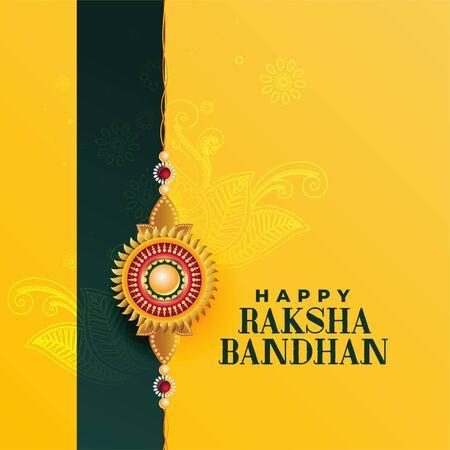indian raksha bandhan festival beautiful background Vector Illustration