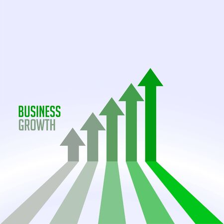 business success and growth chart arrow concept