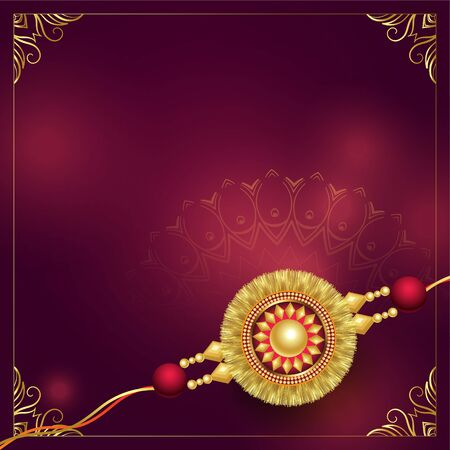 golden rakhi design with text space