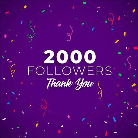 2000 followers network of social media Illusztráció