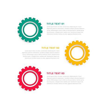 infographic theme design with gear symbols