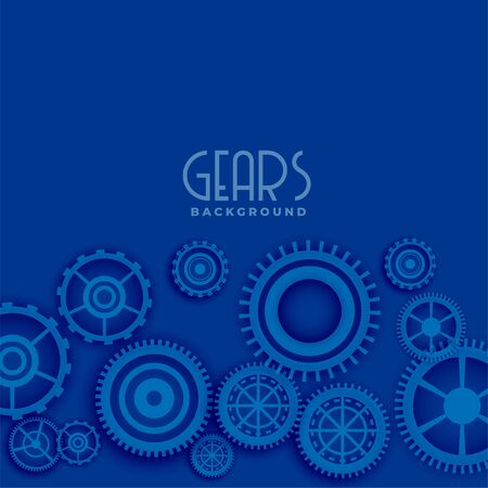 blue background with 3d gears