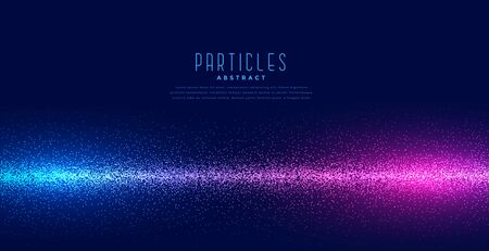 glowing particles in linear light technology background