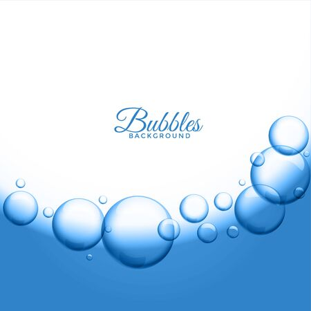 abstract water or soap bubbles background Vettoriali