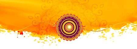 abstract yellow raksha bandhan festival banner design Illustration