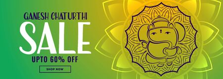 ganesh chaturthi indian festival sale banner design