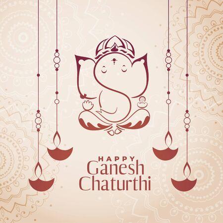 hindu culture festival of ganesh chaturthi background
