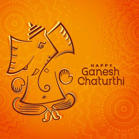 creative lord ganesha festival beautiful greeting design