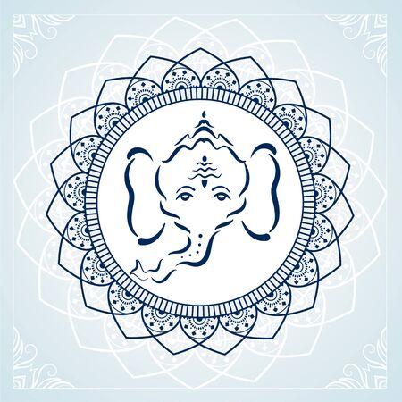 creative lord ganesha art background Illustration