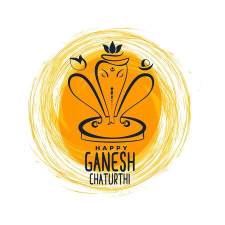 ganesh mahotsav festival greeting background Illustration
