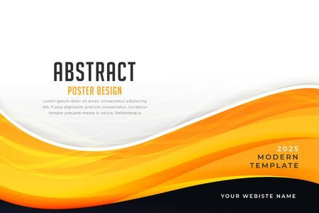 abstract yellow color business style wave design