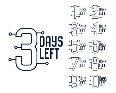 number of days left timer banner design