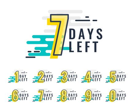 abstract style number of days left promotional template Illustration