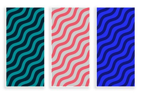 abstract zigzag diagonal wave pattern background Illustration