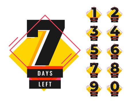 number of days left promotional template set