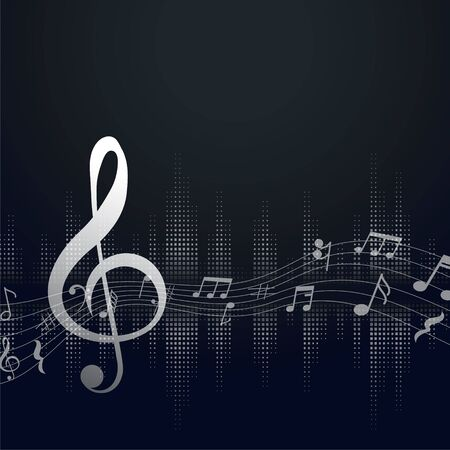 music background with music notes and text space Иллюстрация