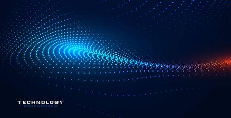 glowing partciles techology particles mesh background design