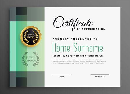 stylish certificate of appreciation modern template design Stock Vector - 129630810